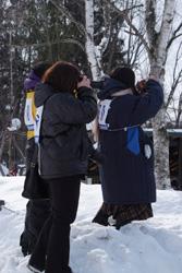 「雪の中の動物園」撮影教室のお手伝いをしました
