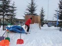 旭山動物園くらぶ雪像づくり