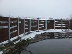 野鳥観察フェンス「生き物思いやり線」
